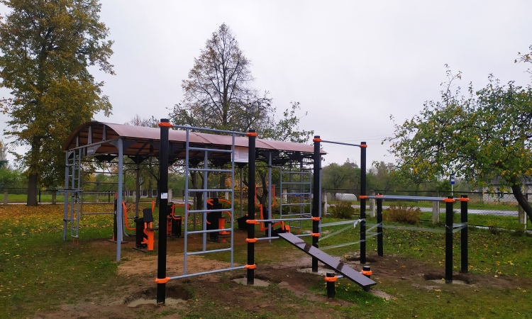 New sports ground has been equipped for healthy lifestyle amateurs in the village of Yazno